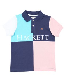 Hackett Boys Blue Quad Polo Shirt