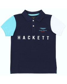 Hackett Boys Blue Aston Martin Polo Shirt