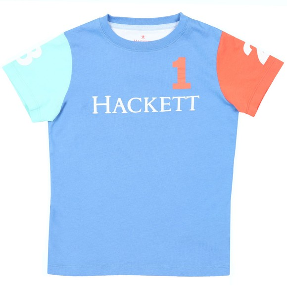 Hackett Boys Blue Multi Number T Shirt main image