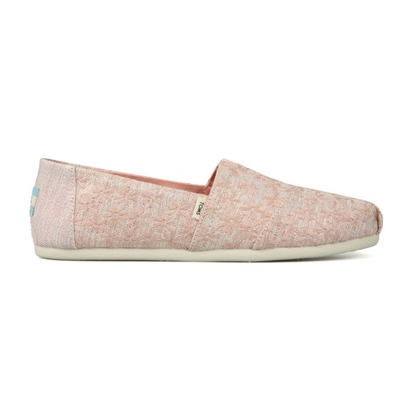 Toms Womens Pink Daisy Metallic Espadrilles main image