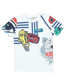 Kenzo Kids Boys White Fino Wax Kenzo T Shirt