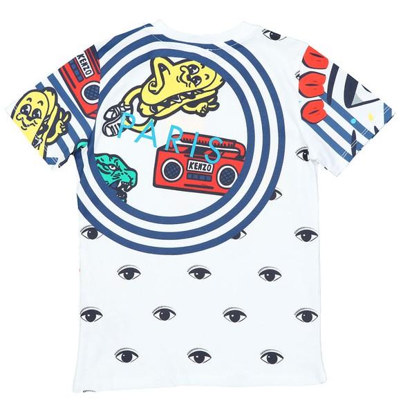 Kenzo Kids Boys White Fino Wax Kenzo T Shirt main image