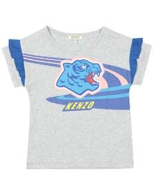 Kenzo Kids Girls Grey Frivolous Racing Kenzo T Shirt
