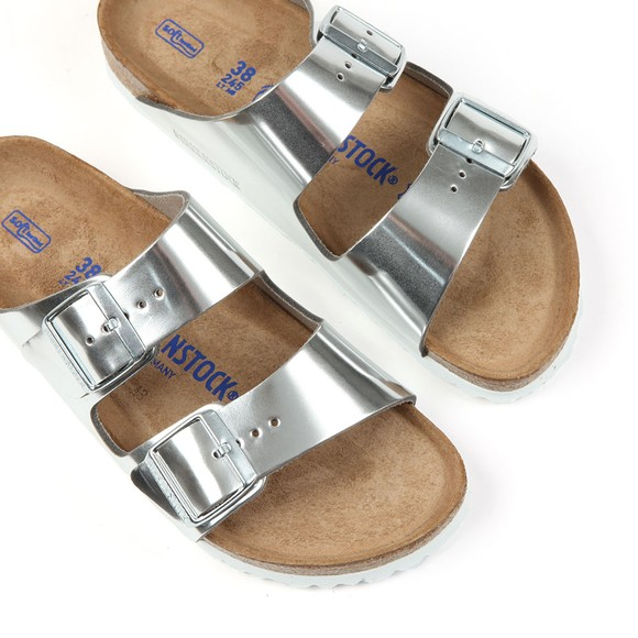 Birkenstock Womens Silver Arizona Sandal main image