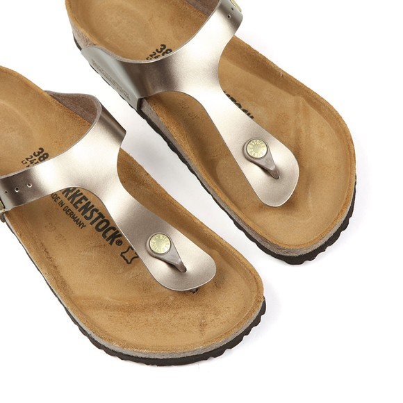 Birkenstock Womens Electric Metallic Taupe Gizeh Sandal main image