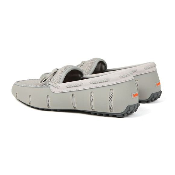 Swims Mens Grey Braided Lace Lux Loafer Driver main image