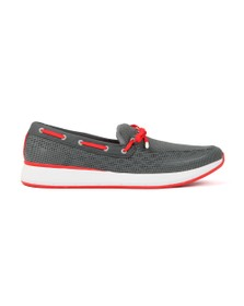 Swims Mens Grey Breeze Wave Lace Loafer