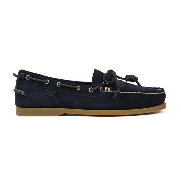 Polo Ralph Lauren Mens Blue Millard Suede Boat Shoe