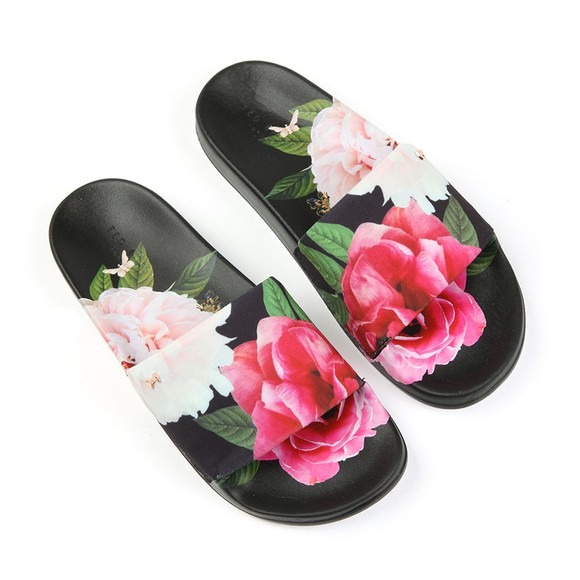 Ted Baker Womens Black Avelini Printed Slide main image