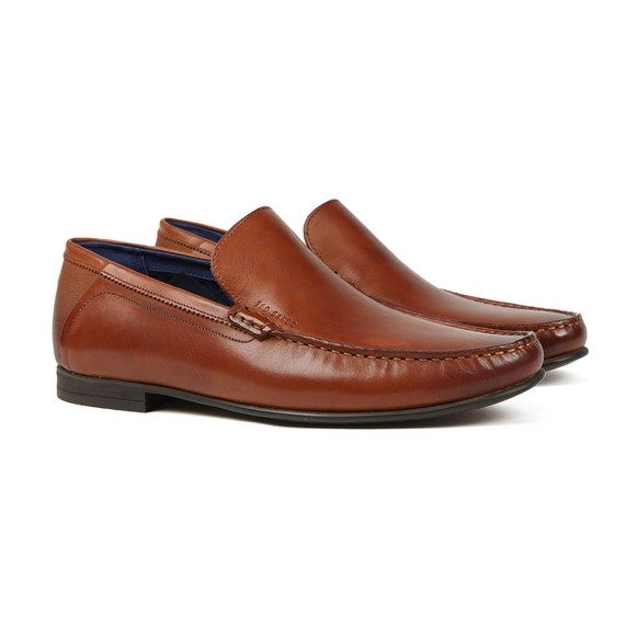 Ted Baker Mens Brown Lassil Leather Loafer main image