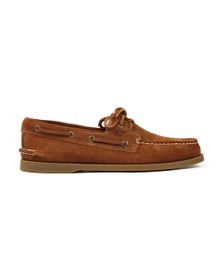Sperry Mens Brown A/O 2 Eye Suede Boat Shoe