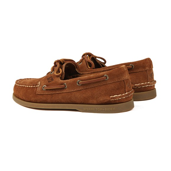 Sperry Mens Brown A/O 2 Eye Suede Boat Shoe main image