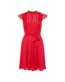 French Connection Womens Red Eva Light Solid Belted Dress