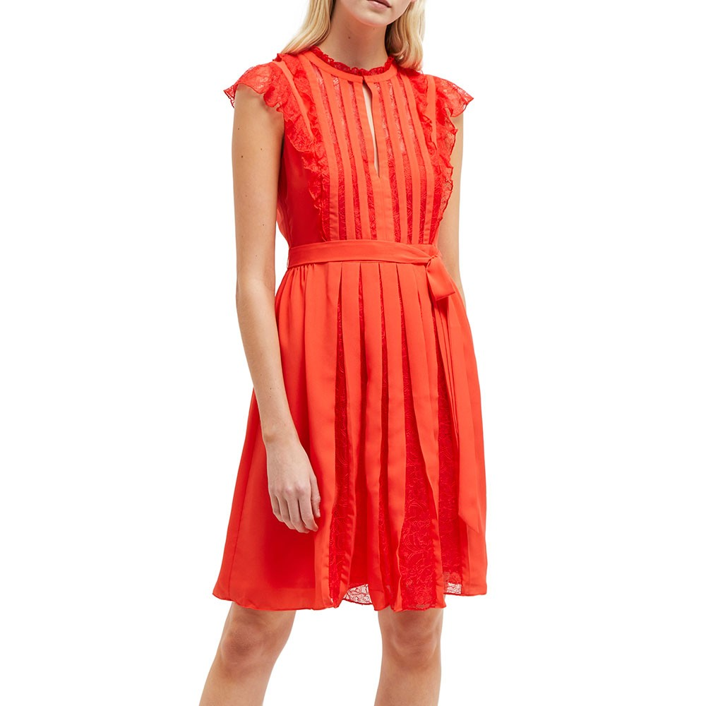 Eva Light Solid Belted Dress main image
