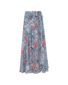 French Connection Womens Blue Cateline Devore Wrap Skirt
