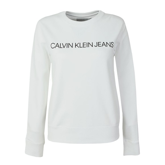 Calvin Klein Jeans Womens White Institutional Regular Sweatshirt main image