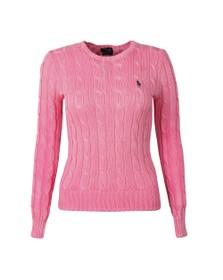 Polo Ralph Lauren Womens Pink Julianna Cable Knit Jumper