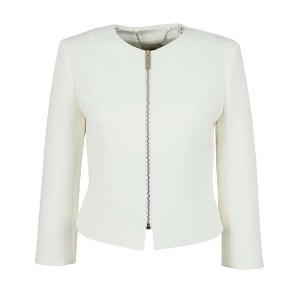 Ted Baker Womens Off-White Eliaana Curved Hem Cropped Jacket main image