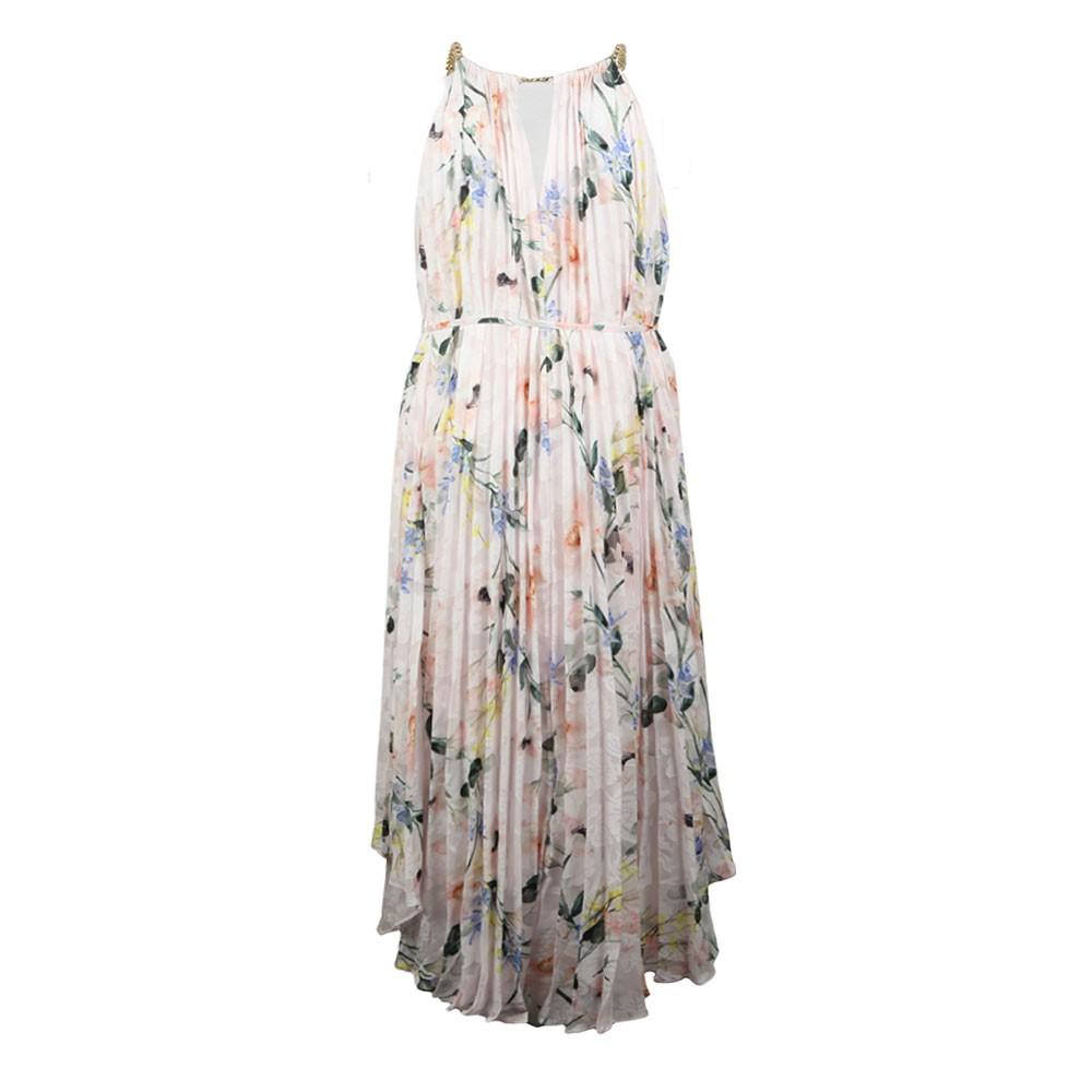 Valetia Elegance Pleat Dip Hem Dress main image