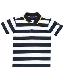 Paul & Shark Cadets Boys White Stripe Polo Shirt
