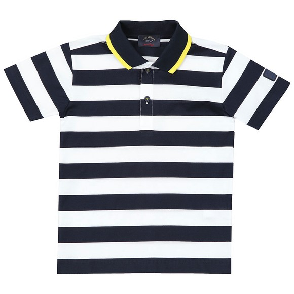 Paul & Shark Cadets Boys Multicoloured Stripe Polo Shirt