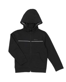 BOSS Boys Black Piped Detail Hoody