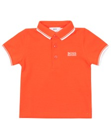 BOSS Baby Boys Orange Tipped Polo Shirt