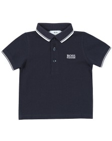 BOSS Baby Boys Blue Tipped Polo Shirt