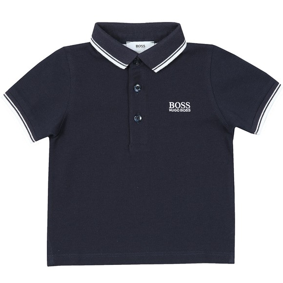 BOSS Baby Boys Blue Tipped Polo Shirt main image