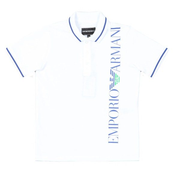 Emporio Armani Boys White Side Logo Polo & Short Set main image