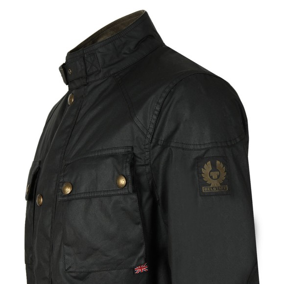 Belstaff Mens Black Trialmaster Wax Jacket main image