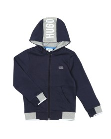 BOSS Boys Blue J25D23 Full Zip Hoody