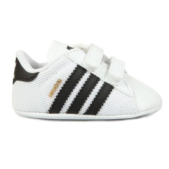 on sale dda17 e4dc0 adidas Originals Unisex White Superstar Crib Shoe
