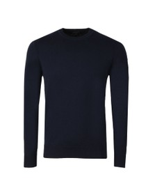 Belstaff Mens Blue Moss Crew Neck Jumper