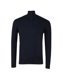 Belstaff Mens Blue Bay Half Zip Jumper
