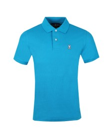 Psycho Bunny Mens Turquoise Classic Polo Shirt