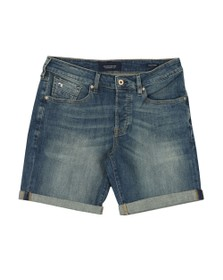 Scotch & Soda Mens Blue Ralston Denim Shorts