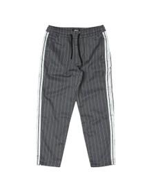 Sik Silk Mens Grey Cropped Taped Pant