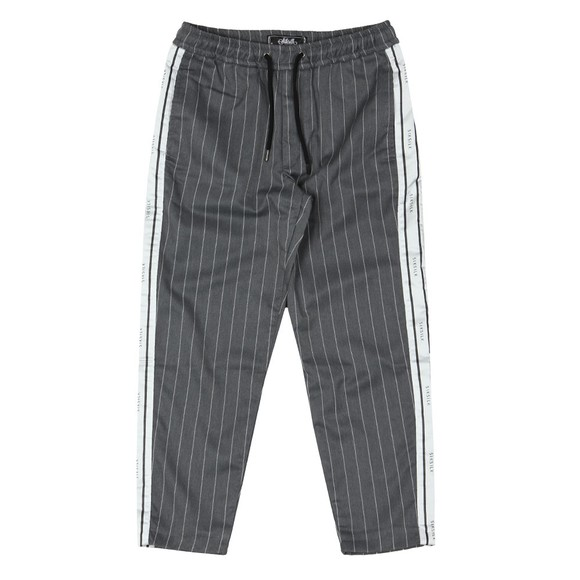 Sik Silk Mens Grey Cropped Taped Pant main image