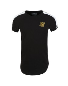 Sik Silk Mens Black Panel Gym Tee