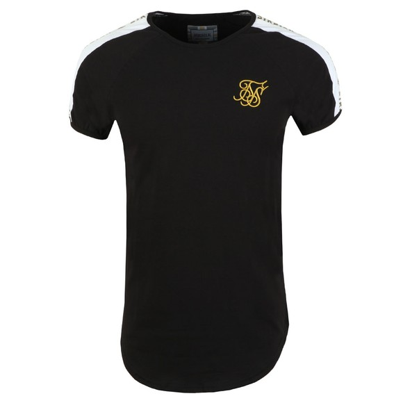 Sik Silk Mens Black Panel Gym Tee main image