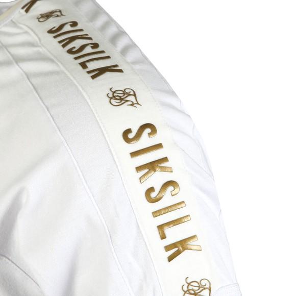 Sik Silk Mens White Panel Gym Tee main image