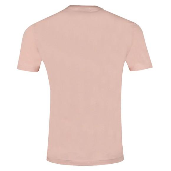 Emporio Armani Mens Pink Logo Square T Shirt main image