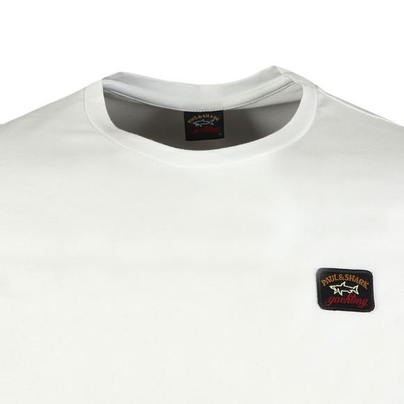 Paul & Shark Mens White Chest Badge Plain T-Shirt