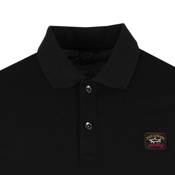 Paul & Shark Mens Black Chest Badge Polo Shirt