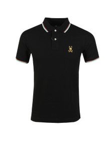 Psycho Bunny Mens Black Gold Embroidery Polo Shirt