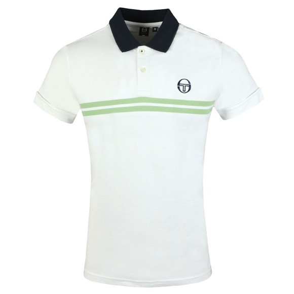 Sergio Tacchini Mens White Supermac Polo main image