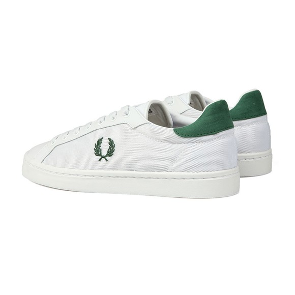 Fred Perry Mens White Lawn Mesh Trainer main image