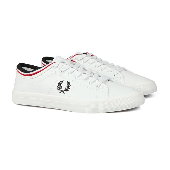 Fred Perry Mens White Kendrick Leather Trainer main image