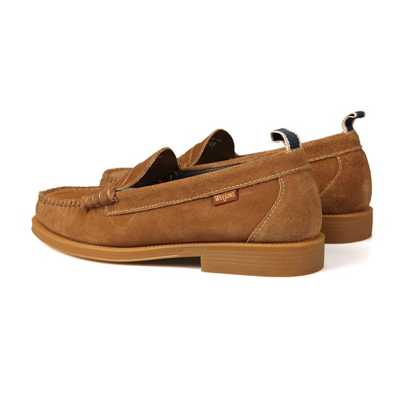 G H Bass & Co Mens Brown Larson Suede Loafer main image